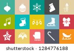 vector christmas icons set ... | Shutterstock .eps vector #1284776188