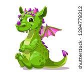 little cute cartoon sitting... | Shutterstock .eps vector #1284778312
