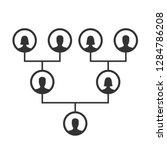 family tree  pedigree or... | Shutterstock .eps vector #1284786208