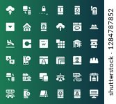 site icon set. collection of 36 ... | Shutterstock .eps vector #1284787852