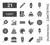 tasty icon set. collection of... | Shutterstock .eps vector #1284787942