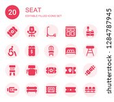 seat icon set. collection of 20 ... | Shutterstock .eps vector #1284787945