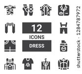 dress icon set. collection of... | Shutterstock .eps vector #1284787972