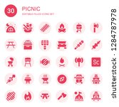 picnic icon set. collection of...   Shutterstock .eps vector #1284787978