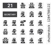 secretary icon set. collection... | Shutterstock .eps vector #1284788122