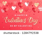 happy valentines day   hand... | Shutterstock .eps vector #1284792538