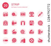 strip icon set. collection of... | Shutterstock .eps vector #1284792772