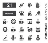 herbal icon set. collection of...   Shutterstock .eps vector #1284792778