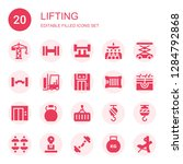 lifting icon set. collection of ... | Shutterstock .eps vector #1284792868