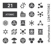 atomic icon set. collection of... | Shutterstock .eps vector #1284795382