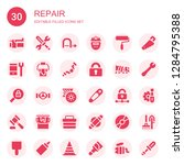 repair icon set. collection of... | Shutterstock .eps vector #1284795388