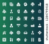 press icon set. collection of... | Shutterstock .eps vector #1284795418
