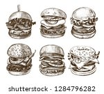 ink hand drawn set of various... | Shutterstock .eps vector #1284796282