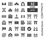 gate icon set. collection of 32 ... | Shutterstock .eps vector #1284799675