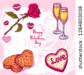 vector hand drawn illustration... | Shutterstock .eps vector #1284803038