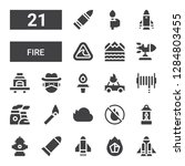 fire icon set. collection of 21 ... | Shutterstock .eps vector #1284803455