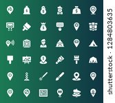 canvas icon set. collection of...