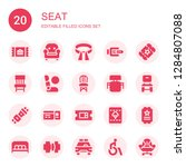 seat icon set. collection of 20 ... | Shutterstock .eps vector #1284807088