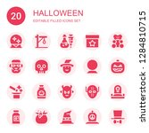 halloween icon set. collection... | Shutterstock .eps vector #1284810715