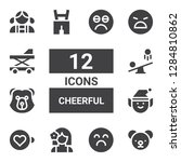 cheerful icon set. collection... | Shutterstock .eps vector #1284810862