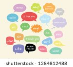 vector colorful speech bubbles... | Shutterstock .eps vector #1284812488