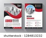 brochure design  cover modern... | Shutterstock .eps vector #1284813232