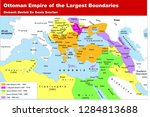 ottoman empire of the largest... | Shutterstock .eps vector #1284813688