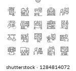 painting exhibition well... | Shutterstock .eps vector #1284814072