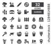 garden icon set. collection of...   Shutterstock .eps vector #1284814888