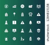 attention icon set. collection... | Shutterstock .eps vector #1284815158