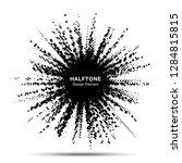 halftone star frame. grunge... | Shutterstock . vector #1284815815