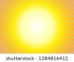 sun orange halftone circles... | Shutterstock . vector #1284816412