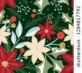 seamless christmas pattern with ... | Shutterstock .eps vector #1284817792