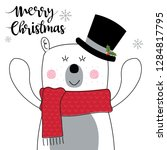 cute christmas card with cute... | Shutterstock .eps vector #1284817795