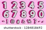 cute black polka dots 3d set of ...   Shutterstock .eps vector #1284818692