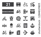 monochrome icon set. collection ... | Shutterstock .eps vector #1284819805
