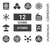 atomic icon set. collection of... | Shutterstock .eps vector #1284820105