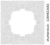 vector abstract bandana peacock ... | Shutterstock .eps vector #1284822682