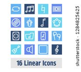 melody icon set and stop with... | Shutterstock .eps vector #1284825625