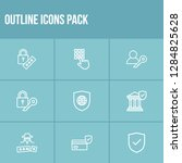 secure icon set and global...
