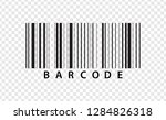 realistic barcode icon isolated ...   Shutterstock .eps vector #1284826318