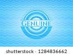 genuine water style emblem. | Shutterstock .eps vector #1284836662