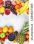 healthy fruits berries... | Shutterstock . vector #1284837385