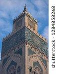 minaret of hassan ii mosque in...   Shutterstock . vector #1284858268