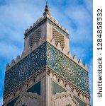 minaret of hassan ii mosque in...   Shutterstock . vector #1284858532