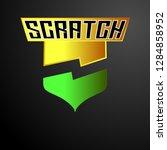 scratch logo with shield symbol ...