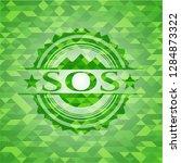 sos green emblem. mosaic... | Shutterstock .eps vector #1284873322