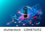 iot isometric technology... | Shutterstock .eps vector #1284876352