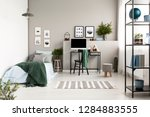 silver  green and patterned... | Shutterstock . vector #1284883555