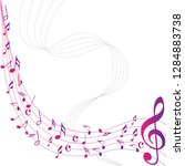 colorful abstract music notes... | Shutterstock .eps vector #1284883738